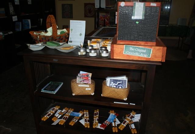 Aboriginal gifts at Lyons Cottage Telegraph Station, Darwin