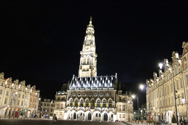 Arras Bell Tower at night France - photo Zoe Dawes
