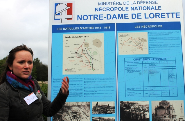 Guide at Notre-Dame de Lorette Necropolis, France