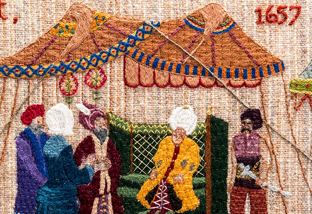 Mary Fisher - Quaker Tapestry, Kendal UK