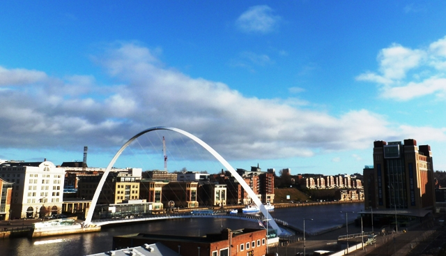 The Baltic Centre and Milennium Bridge - Newcastle Gateshead