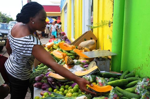 Basseterre food market St Kitts - image Zoe Dawes
