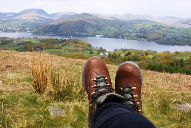 Walking boots on Latterbarrow Lake District - image Zoe Dawes