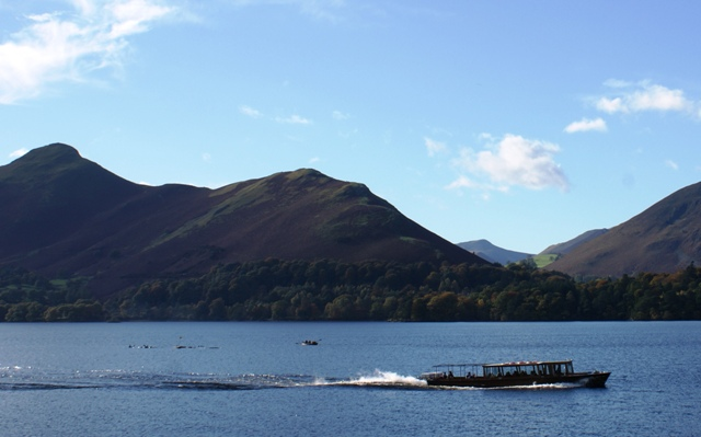 Keswick Launch and Cat Bells, Derwentwater, Cumbria - photo by Zoe Dawes