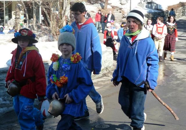 Chalandamarz procession in St Moritz