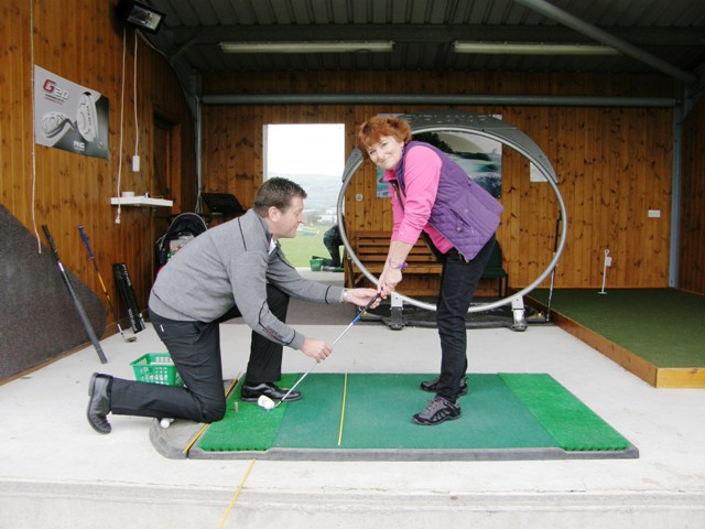 Golf lesson at Carus Green