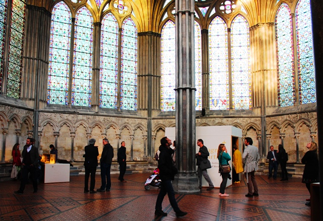 Chapter House Magna Carta display in Salisbury Cathedral - photo Zoe Dawes thequirkytraveller.com