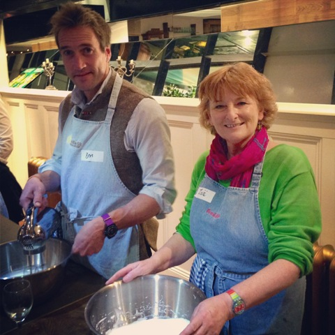 Food at 52 cookery lesson with Ben Fogle and Zoe Dawes