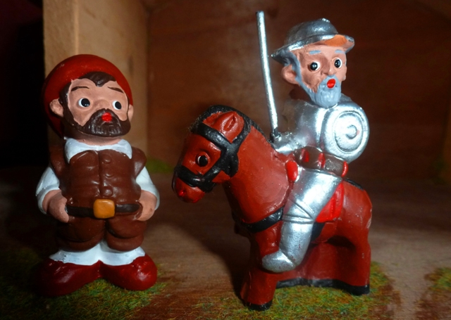 Don Quixote and Sancho Panza - figures from Segovia, Spain - by Zoe Dawes