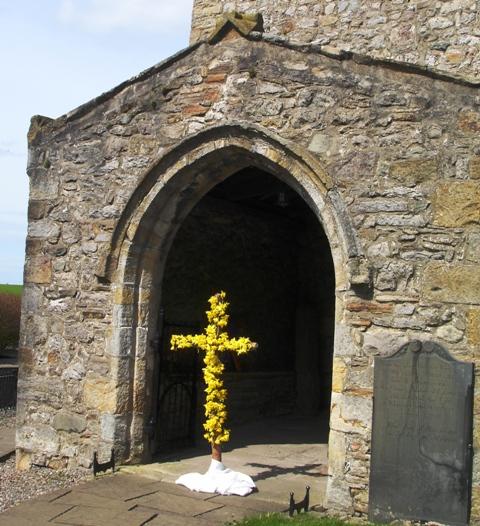Easter Cross at Heversham Church