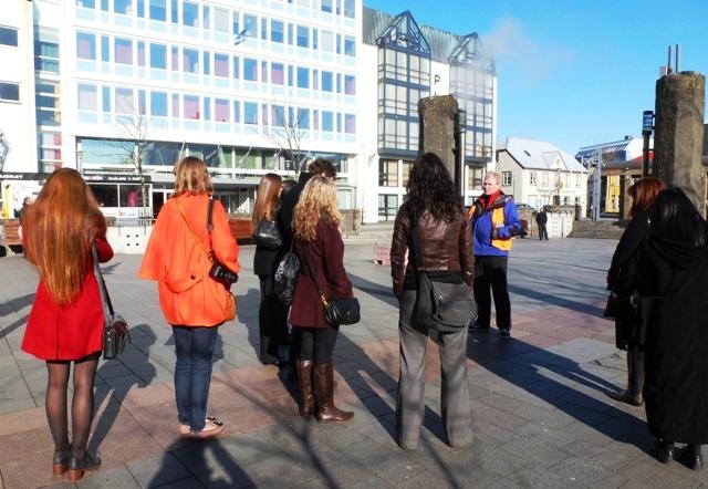 Faxafloi Square sculpture Reykjavik