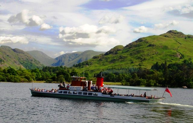 Lake District Fells from Ullswater ferry - image Zoe Dawes