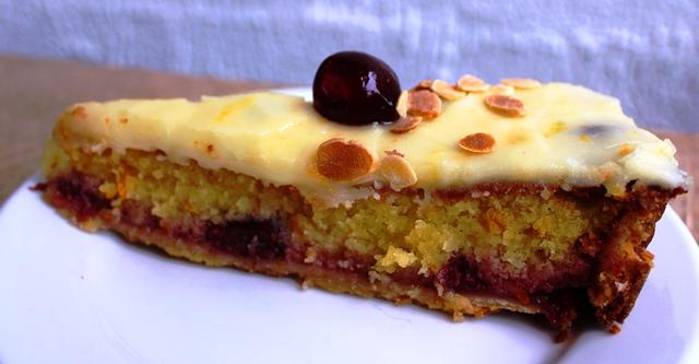 Slice of frangipane tart at Parlour Cafe Dundee - image Zoe Dawes
