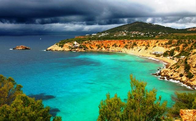 Ibiza beach, Balearic island Spain - image Andre30c via Wikimedia