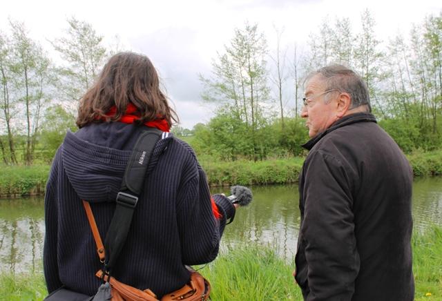 Jacky Duminy at Sambre-Oise canal
