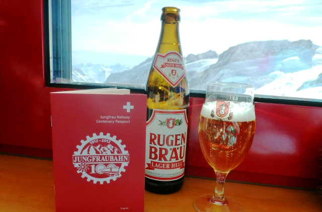 Beer on the Jungfrau Switzerland - image Zoe Dawes