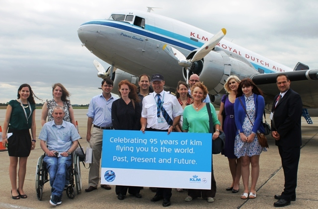 KLM passengers and crew Dakota DC-3 - by Zoe Dawes