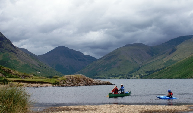 Kayaks on Wast Water, Lake District - image Zoe Dawes
