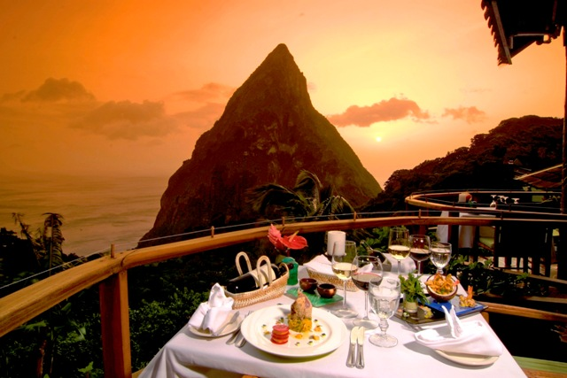 Ladera Resort - Dasheene Restaurant - St Lucia