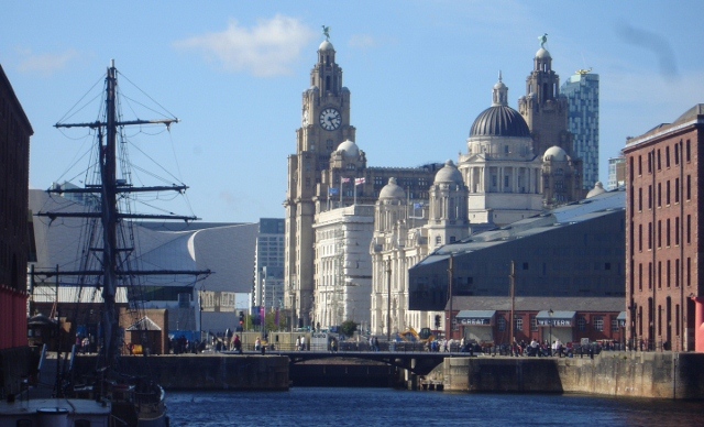 Liverpool harbour and buildings