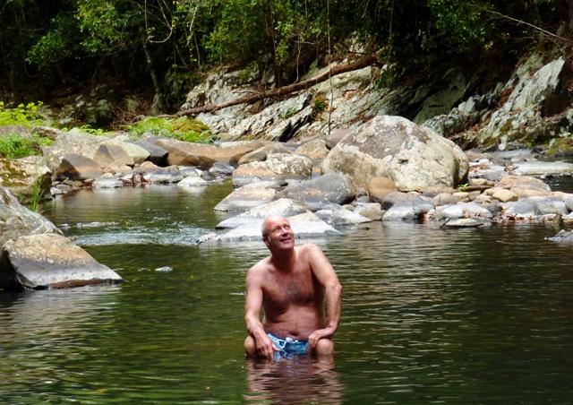 Martin at the creek