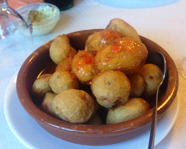 Wrinkled potatoes - Canarian patatas arrugadas - on Gran Canaria