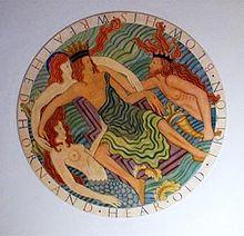 Eric Gill's Neptune, Triton & mermaids