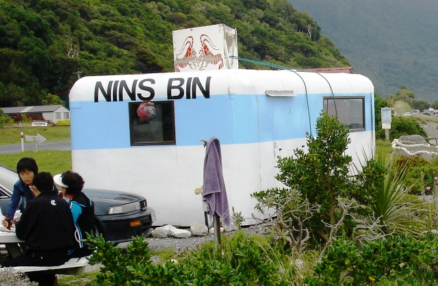 Nin's Bin Crayfish Caravan near Kaikoura, New Zealand - photo Zoe Dawes