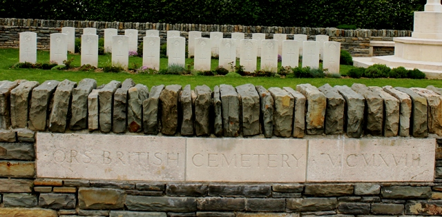 Ors British Cemetery near where Wilfred Owen was killed in WW1 in France - photo Zoe Dawes