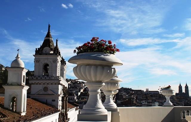 Quito from Casa Gangotena roof, Ecuador - image Zoe Dawes