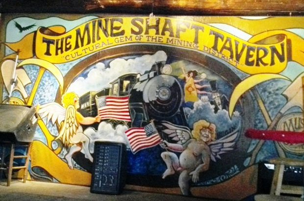 Russ Ward's mural at Mineshaft Tavern