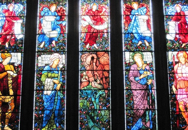 St Martin's Church Brampton Pre-Raphaelite stained glass window - image Dave Brooks