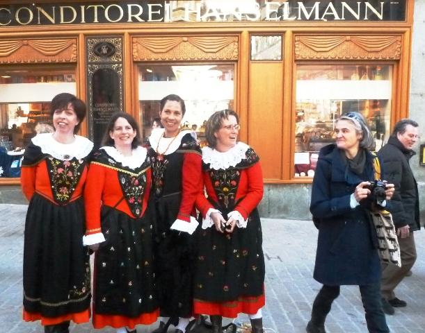 St Moritz ladies - Chalandamarz festival - image Zoe Dawes