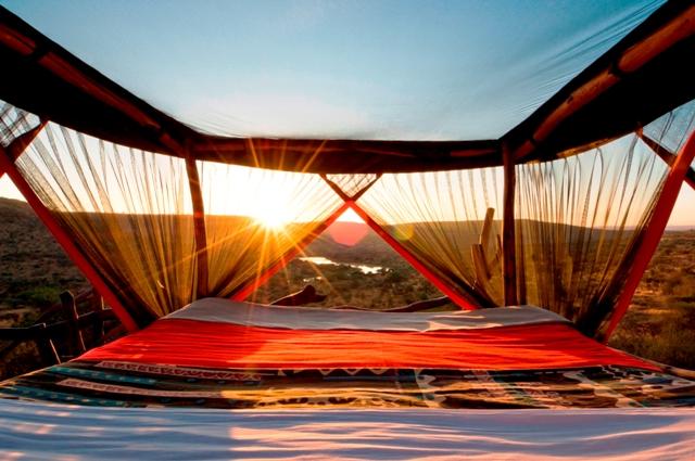 Star Beds at Loisaba camp, Kenya in Africa