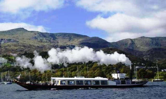 Steam ferry Gondola on Coniston Water Lake District - image Zoe Dawes