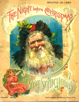 'Twas the night before Christmas'  poem by Clement C Moore 19th C image America