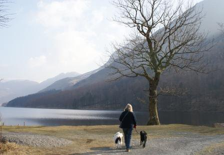 Winter walk Buttermere in the Lake District - photo Zoe Dawes