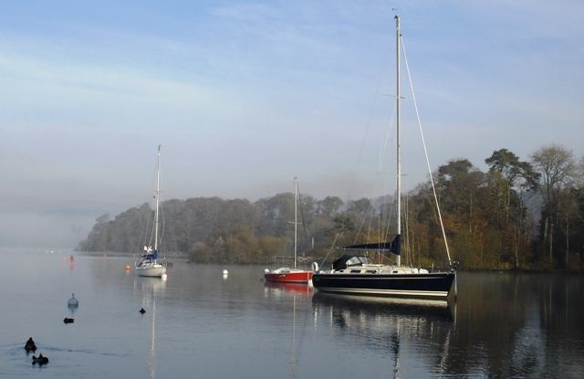 Yachts on Windermere, Lake District - image by Zoe Dawes