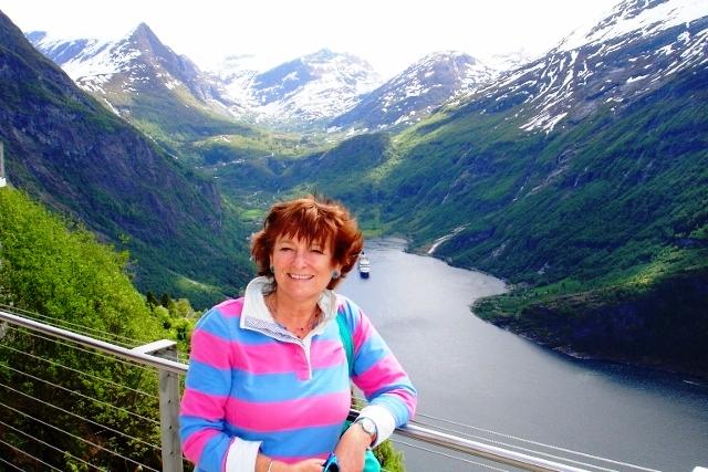 Zoe Dawes at Geiranger Fjord Norway