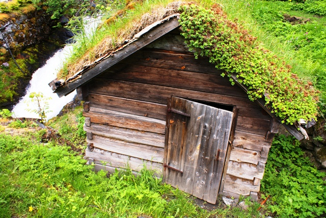 Wooden Hut, Geiranger, Norway