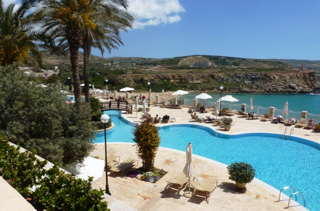 Azure Golden Sands Resort and Spa pool and beach Malta - by Zoe Dawes