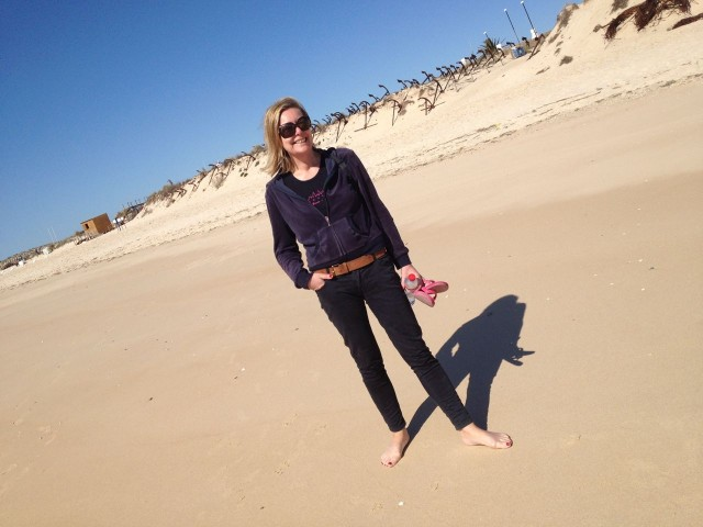 Helen on Barill Beach