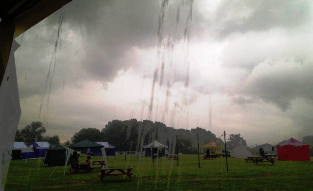 Blogstock in the rain