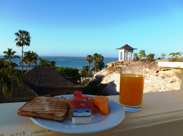 Breakfast at Bahia del Duque Tenerife - by Zoe Dawes