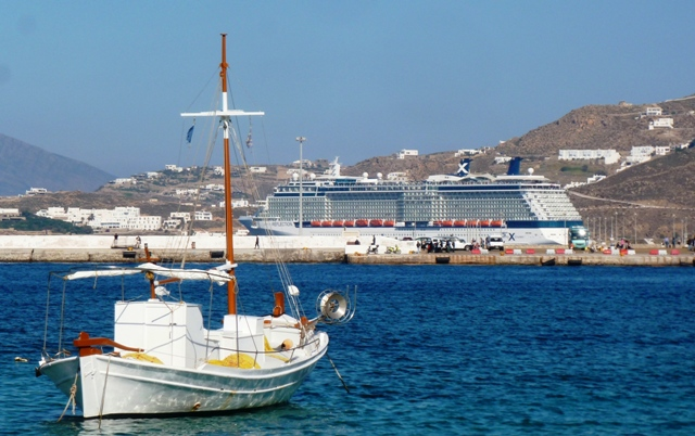 Celebrity Cruise ship 'Reflection' Mykonos