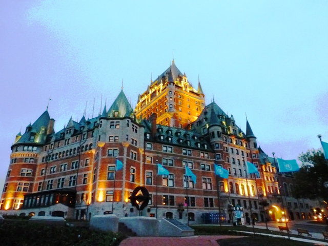 Chateau Frontenac at night, Quebec City - by Zoe Dawes