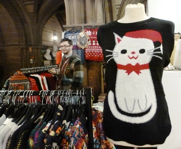Festive jumper at Manchester Christmas Market - by Zoe