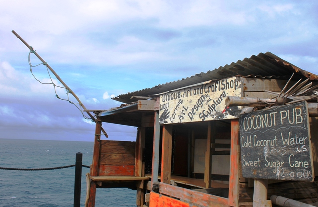 Coconut pub overlooking Black Rocks, St Kitts - image Zoe Dawes