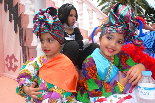 Happy children Tenerife Carnival - by Zoe Dawes