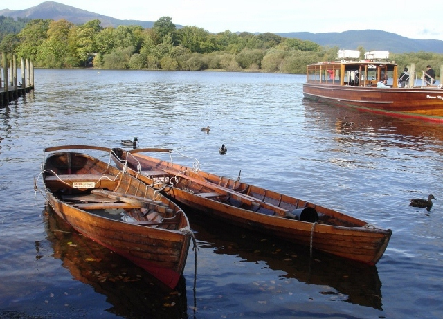 Boats on Derwentwater, Lake District, Cumbria - photo by Zoe Dawes